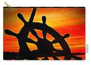 Sunrise Over The Captain's Wheel 2 Carry-all Pouch