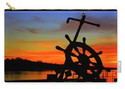 Sunrise Over The Captain's Wheel Carry-all Pouch
