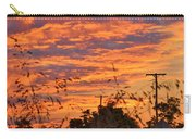 Sunrise Over The Wheat Fields Carry-all Pouch