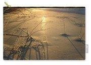 Sunrise Reflecting Off Mississippi River Ice Carry-all Pouch
