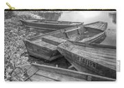 Sunrise Rowboats  In Black And White Carry-all Pouch