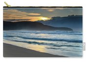 Sunrise Seascape With Headland And Clouds Carry-all Pouch