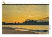 Sunrise Seascape With Mountain And Birds Carry-all Pouch