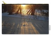 Sunrise Shadows On Ice Carry-all Pouch