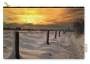 Sunrise Snow Fields Carry-all Pouch