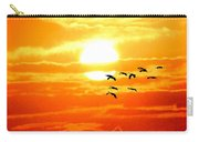 Sunrise / Sunset / Sandhill Cranes Carry-all Pouch
