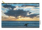 Sunrise Surfer Running Delray Beach Florida Carry-all Pouch