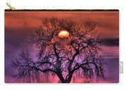 Sunrise Through The Foggy Tree Carry-all Pouch by Scott Mahon