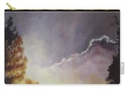 Sunrise Through The Pines Carry-all Pouch by Diane Kraudelt