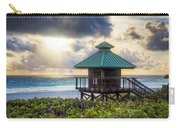 Sunrise Tower At The Beach Carry-all Pouch