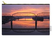 Sunrise Walnut Street Bridge 2 Carry-all Pouch by Tom and Pat Cory