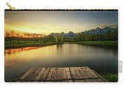 Sunset Above A Lake In High Tatra Mountains In Slovakia Carry-all Pouch