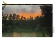 Sunset Above The Forest And Lake Carry-all Pouch