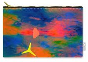 Sunset Abstract With Windmill Carry-all Pouch
