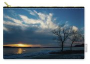 Sunset Along The Mississippi River Carry-all Pouch