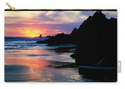 Sunset And Clouds Over Crescent Beach Carry-all Pouch