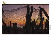 Sunset And Fishing Net Cape May New Jersey Carry-all Pouch