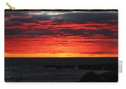 Sunset And Jetty Carry-all Pouch by William Selander