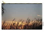 Sunset And Palm Grass Carry-all Pouch