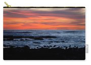Sunset And Rocks Carry-all Pouch