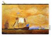 Sunset And Ships Carry-all Pouch