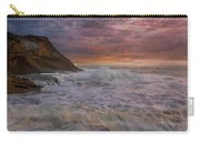 Sunset And Waves At Cape Kiwanda Carry-all Pouch