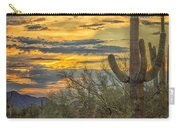Sunset Approaches - Arizona Sonoran Desert Carry-all Pouch