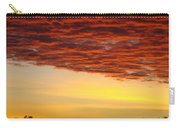 Sunset Art Prints Canvas Orange Clouds Twilight Sky Baslee Troutman Carry-all Pouch