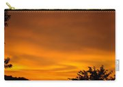 Sunset Art Prints Orange Glowing Western Sunset Baslee Troutman Carry-all Pouch