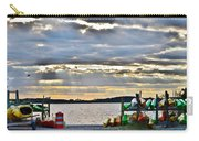 Sunset At Coastal Kayak Carry-all Pouch