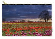 Sunset At Colorful Tulip Field Carry-all Pouch