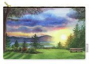 Sunset At Columbia River State Of Washington Carry-all Pouch