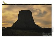 Sunset At Devils Tower Carry-all Pouch