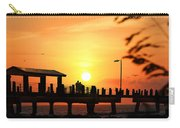 Sunset At Fort De Soto Fishing Pier Pinellas County Park St. Petersburg Florida Carry-all Pouch