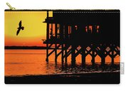 Sunset At Raft With Bird Carry-all Pouch
