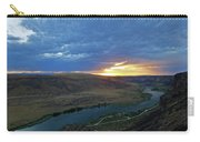 Sunset At Snake River Canyon 1 Carry-all Pouch