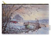 Sunset At Snow-covered Niawanda Park Carry-all Pouch