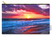 Sunset At Strands Beach Carry-all Pouch