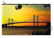 Sunset At The Delaware Memorial Bridge Carry-all Pouch