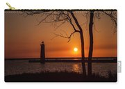 Sunset At The Lighthouse In Muskegon Michigan Carry-all Pouch