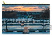 Sunset At The Marina In Winter Carry-all Pouch