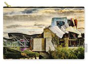 sunset at the marques de riscal Hotel - frank gehry - vintage version Carry-all Pouch