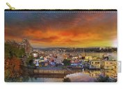 Sunset At Victoria Inner Harbor Fisherman's Wharf Carry-all Pouch