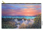 Sunset Beach Painting With Walking Path And Sand Dunesand Blue Waves Carry-all Pouch