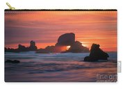 Sunset Behind Arch At Oregon Coast Usa Carry-all Pouch