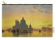 Sunset Behind The Church Of Santa Maria Della Salute Carry-all Pouch