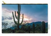 Sunset Beyond The Cacti Carry-all Pouch
