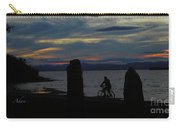 Sunset Bicycle At Earth Clock Burlington Vermont Panorama Carry-all Pouch