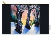 Sunset Birches On The Rise Carry-all Pouch