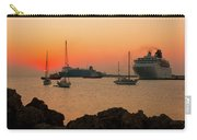Sunset, Boats And Sea Carry-all Pouch